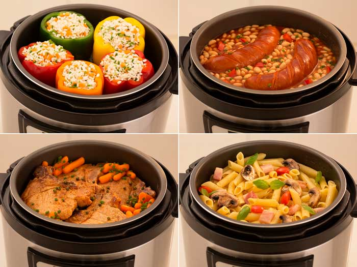 Fresh food in multi cooker