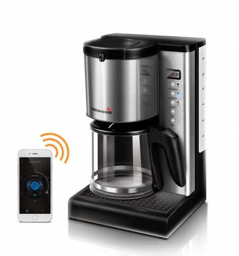 Coffee maker REDMOND SkyCoffee M1509S-E controlled from smartphone