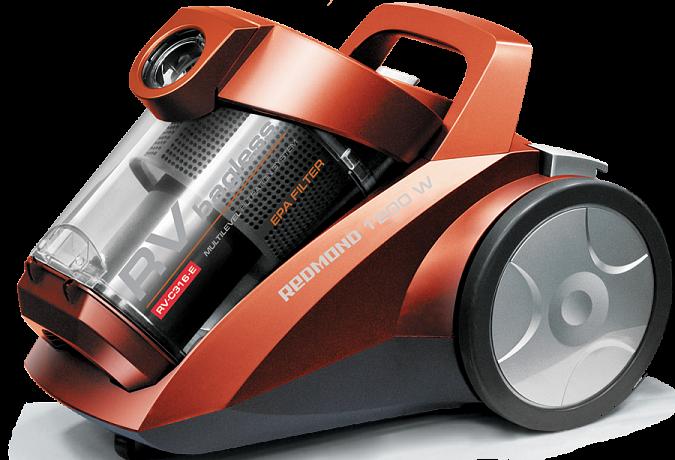 Η ηλεκτρική σκούπα REDMOND RV-C316-E (πορτοκάλι)
