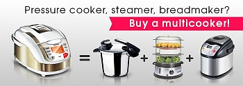 Pressure cooker, steamer, breadmaker? Choose a multicooker!