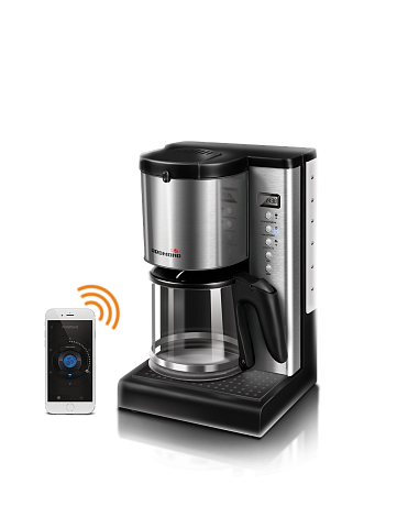 Smart coffee maker REDMOND SkyCoffee M1509S-E controlled from smartphone